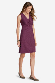 Red Dresses for Women: Women's Aster Tie The Knot Dress - Space Dye