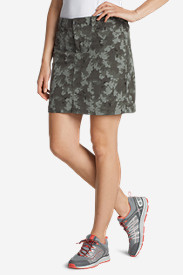 Green Plus Size Skirts for Women: Women's Horizon Skort - Print