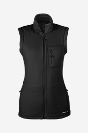 Black Vests: Women's Cloud Layer Pro Vest - Solid