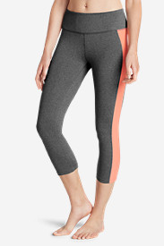 Gray Leggings for Women: Women's Movement Lead The Way Capris