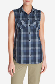 Women's Mountain Textured Sleeveless Shirt