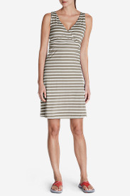 Spandex Dresses for Women: Women's Aster Lily Wrap Dress - Stripe