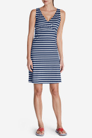 Women's Aster Lily Wrap Dress - Stripe
