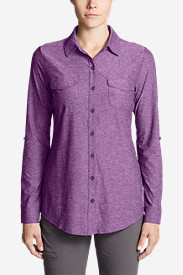 Women's Infinity Long-Sleeve Button-Front Shirt