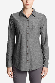 Petite Tops for Women: Women's Infinity Button-Down Shirt
