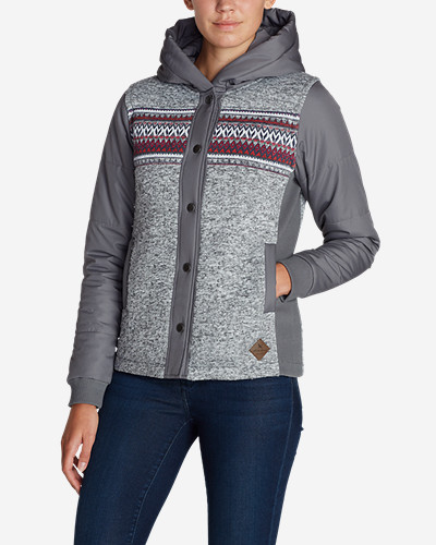 Cotton Jackets: Women's Radiator Westerly Jacket - Placed Stripe