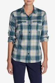 Green Tops for Women: Women's Eddie Bauer Expedition Flannel Shirt
