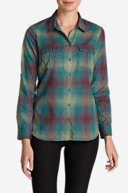 Insulated Tops for Women: Women's Eddie Bauer Expedition Flannel Shirt