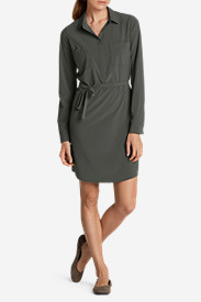Green Dresses for Women: Women's Departure Shirt Dress