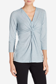 Women's Girl On The Go ¾-Sleeve Twist Front Top