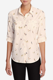 Women's Mountain Textured Long-Sleeve Shirt - Print