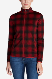 Plaid Jackets: Women's Radiator Fleece Full Zip Jacket - Plaid