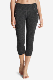 Stretch Capri Pants for Women: Women's Trail Tight Capris - 2D Heather