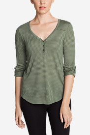 Women's Mercer Knit Henley Shirt - Stripe