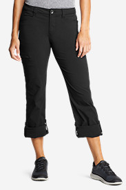 Black Petite Pants for Women: Women's Horizon Roll-Up Pants