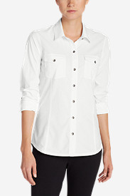 White Tees for Women: Women's Departure Long-Sleeve Shirt