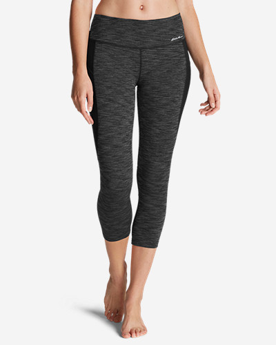Eddie Bauer Movement Blocked Capris - 2D Heather