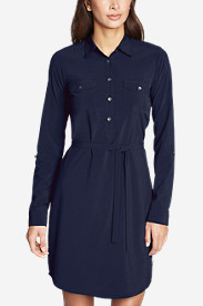 Women's Departure Long-Sleeve Shirt Dress