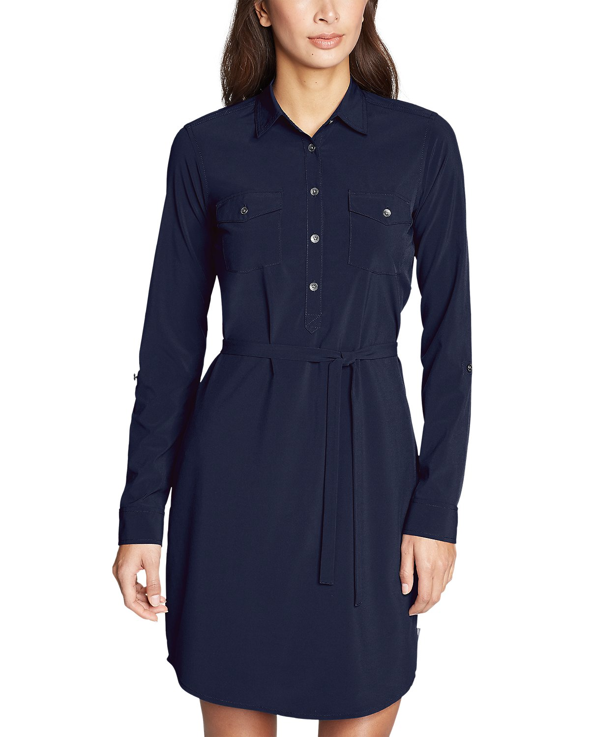 Eddie Bauer's Departure Long-Sleeve Shirt Dress — Professional Clothes For People Who Sweat