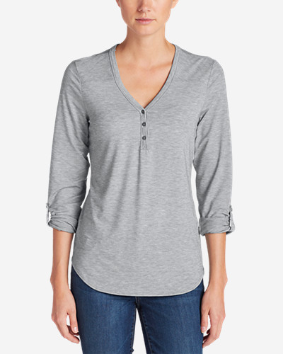 Women's Mercer Knit Henley Shirt by Eddie Bauer