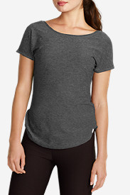 Comfortable Tops for Women: Infinity Cap-Sleeve T-Shirt
