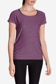 Purple Tees for Women: Infinity Cap-Sleeve T-Shirt