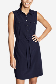 Women's Departure Sleeveless Shirt Dress