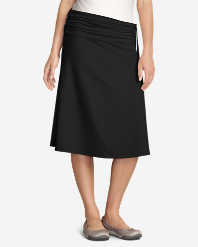 Black Plus Size Skirts for Women: Women's Aster Convertible Dress to Skirt