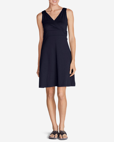 Petite Dresses for Women: Women's Aster Crossover Dress - Solid
