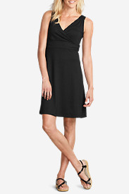 Spandex Dresses for Women: Women's Aster Crossover Dress - Solid