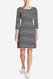Women's Aster 3/4-Sleeve Boat Neck Dress - Stripe