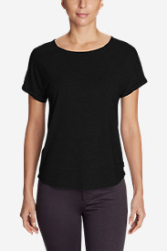 Women's Mercer Knit Roll-Sleeve Bateau T-Shirt - Solid