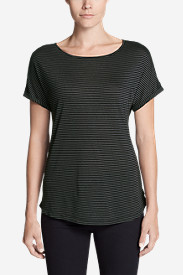 Women's Mercer Knit Roll-Sleeve Bateau T-Shirt - Stripe