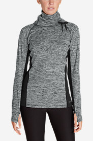 Women's Crossover Fleece Funnel-Neck Pullover