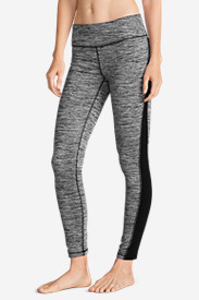 Polyester Leggings for Women: Women's Crossover Fleece Leggings - Space Dyed