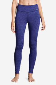 Women's Crossover Fleece Leggings - Space Dyed