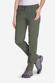 Green Plus Size Pants for Women: Women's Horizon Pull-On Pants