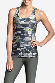 Spandex Tank Tops for Women: Women's Movement Racerback Tank Top - Print