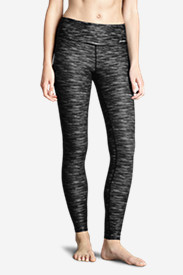 Polyester Leggings for Women: Women's Movement Leggings - Space Dye