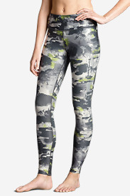 Polyester Leggings for Women: Women's Movement Leggings - Camo Print