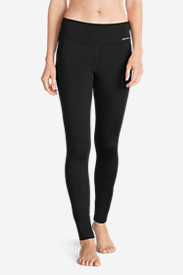 Spandex Leggings for Women: Women's Crossover Fleece Leggings - Solid