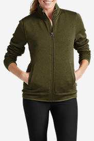 Green Petite Outerwear for Women: Women's Radiator Full-Zip Jacket