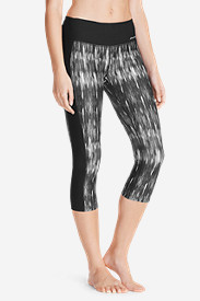 Women's Movement Capris - Pieced Print