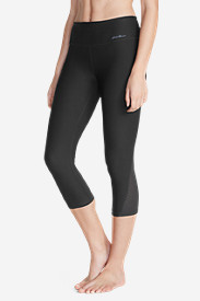Stretch Capri Pants for Women: Women's Movement Mesh Capris