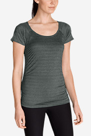 Gray Plus Size Tshirts for Women: Women's Infinity Ruched T-Shirt