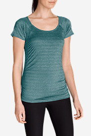 Green Tops for Women: Women's Infinity Ruched T-Shirt