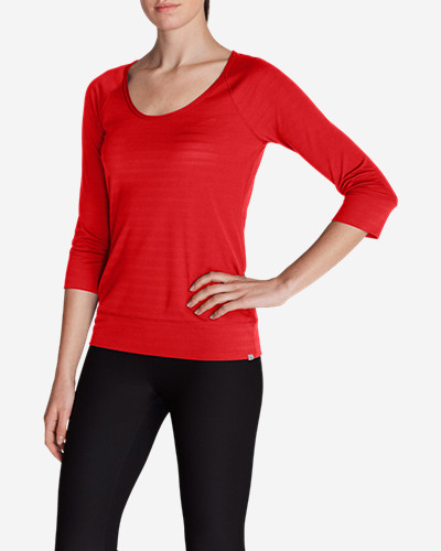 Three-Quarter Sleeve Tops for Women: Women's Outbound 3/4-Sleeve Top