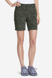 Green Shorts for Women: Women's Horizon 8' Shorts - Print