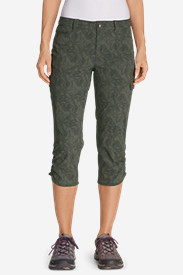 Nylon Capris Pants for Women: Women's Horizon Capris - Print
