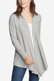 Wrap Tops for Women: Women's Daisy II Long-Sleeve Wrap - Solid